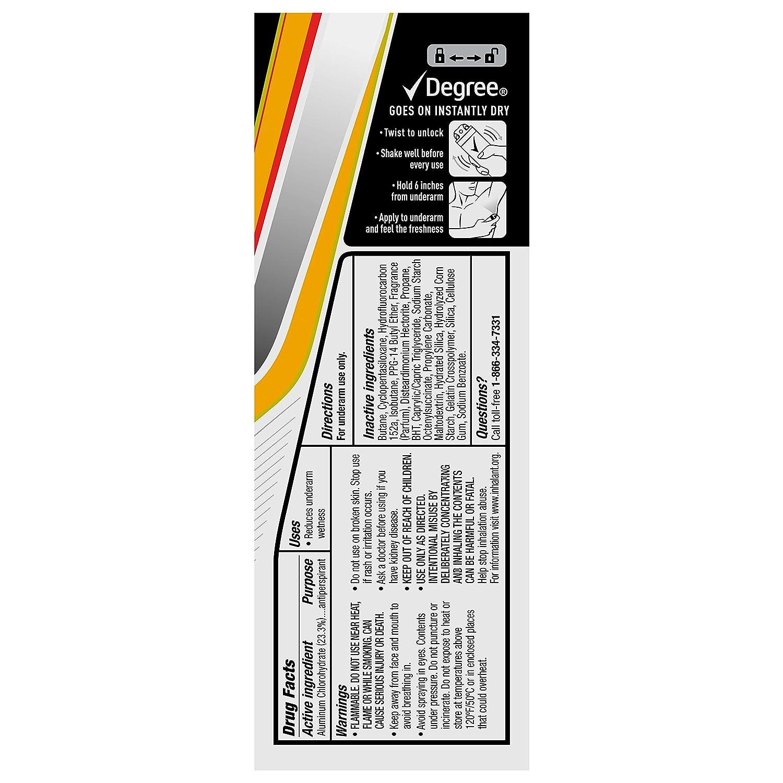 Degree Men MotionSense Antiperspirant Deodorant Dry Spray, Adventure, 3.8 Ounce, Pack of 3