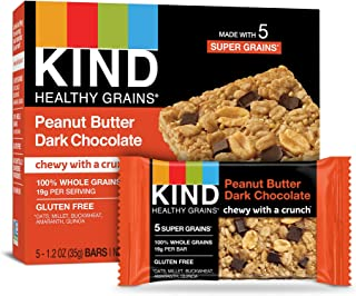 product image for KIND Healthy Grains Bars, Peanut Butter Dark Chocolate, Non GMO, Gluten Free, 1.2oz, 5 Count (Pack of 3)