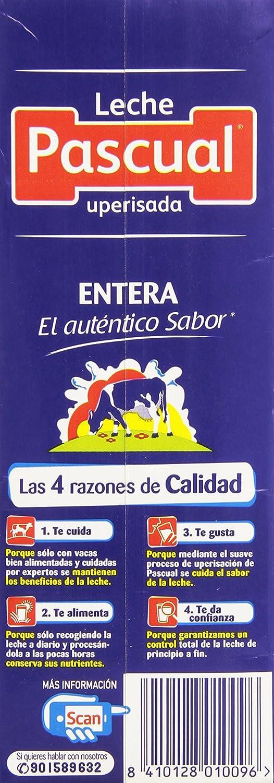 Leche Pascual - Clásica Leche Entera - 1 L: Amazon.es: Alimentación y bebidas
