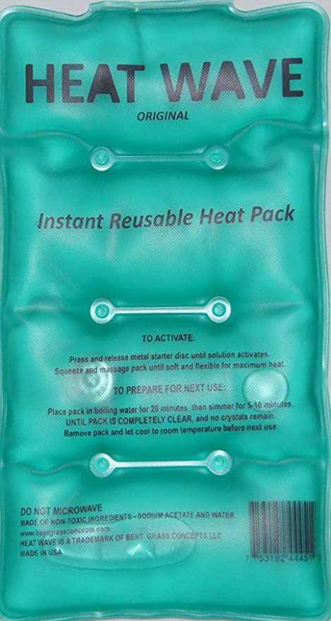 HEAT WAVE Instant Reusable Heat Pack - Medium (5 x 9 inch size) -