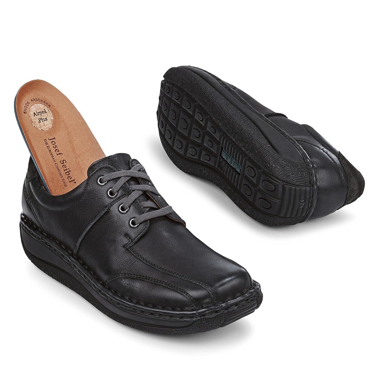 Josef Seibel 44446705/619, Chaussures de Ville à Lacets pour Homme - Noir - Noir, 42.5