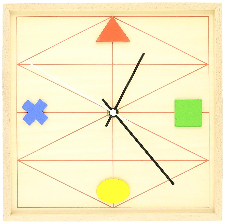 Kikkerland Geometric Wood Clock