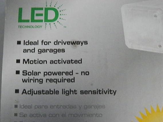 Defiant 500 Lumen Twin Solar Outdoor Motion White LED Security Light Model#2100W UPC#039208995634 - Motion Detectors - Amazon.com