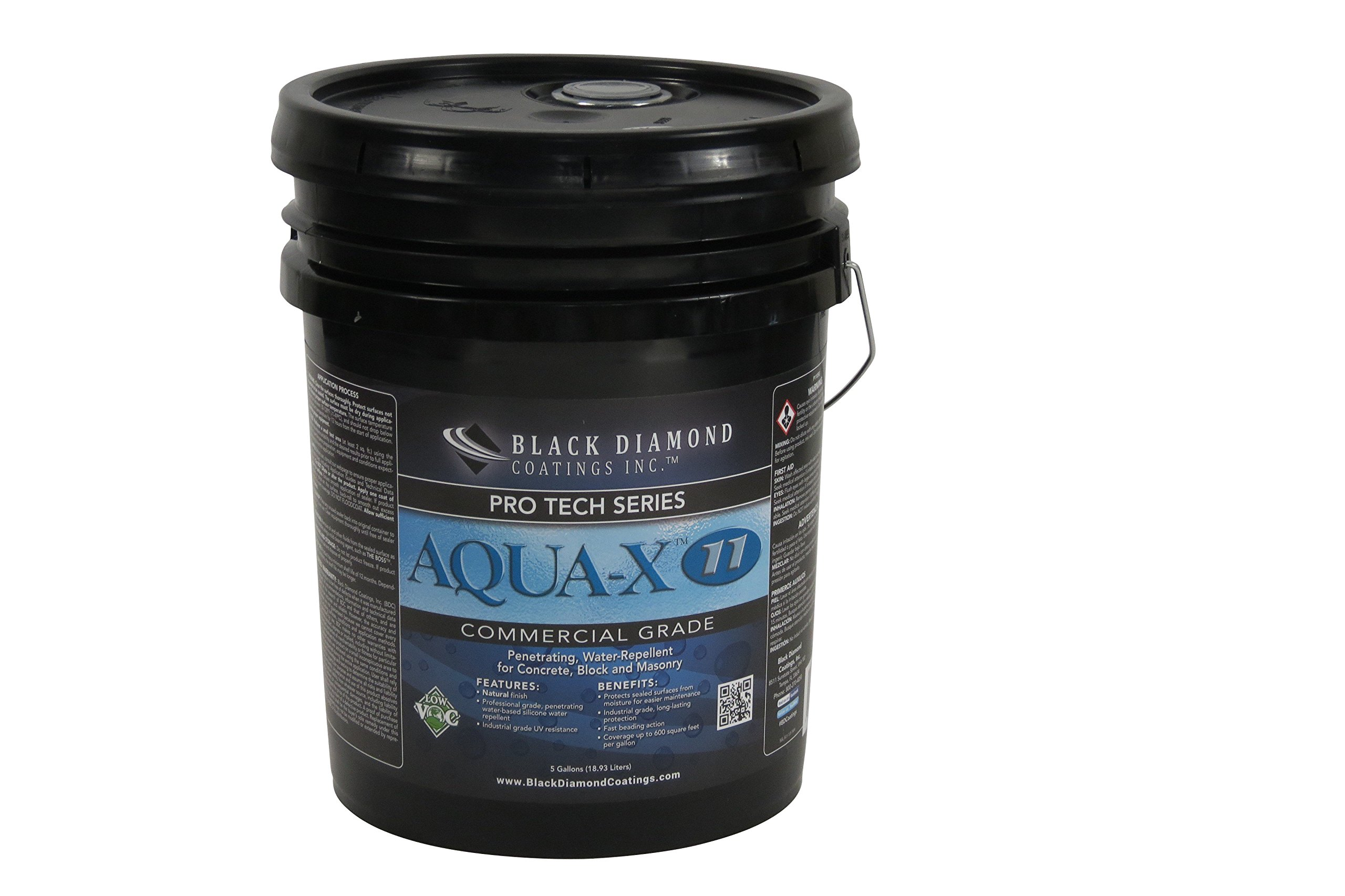 AQUA-X 11 Commercial Grade Concrete Sealer and Water Repellant All-in-One.
