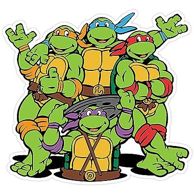 "Teenage Mutant Ninja Turtles Cartoon Vinyl Sticker Decal 5""x5"" Car Bumper: Automotive"