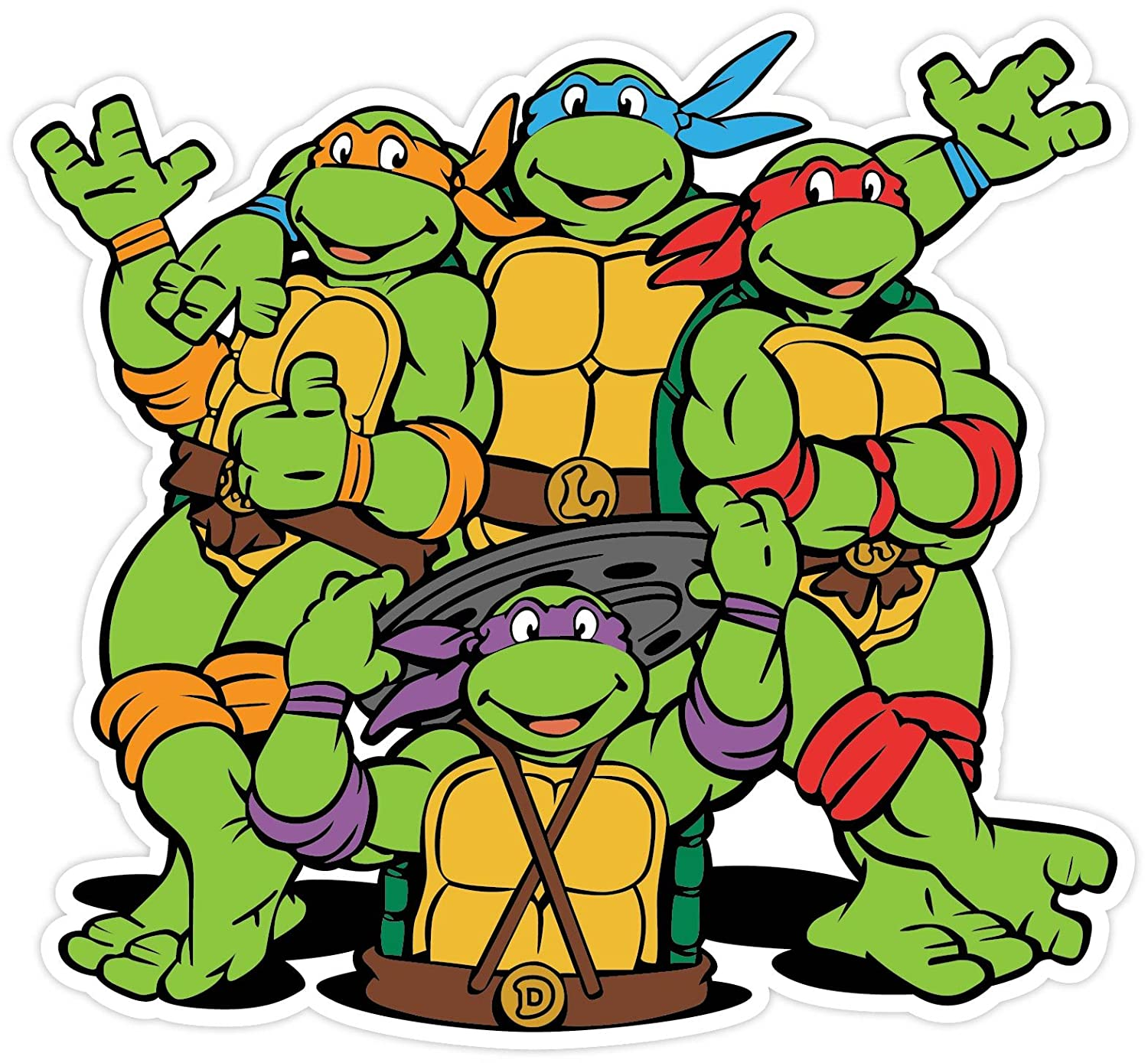 Amazon.com: Teenage Mutant Ninja Turtles Cartoon Vinilo ...