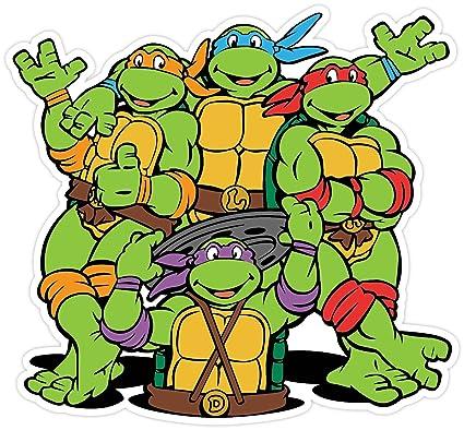 Teenage Mutant Ninja Turtles Cartoon Vinilo Adhesivo 5