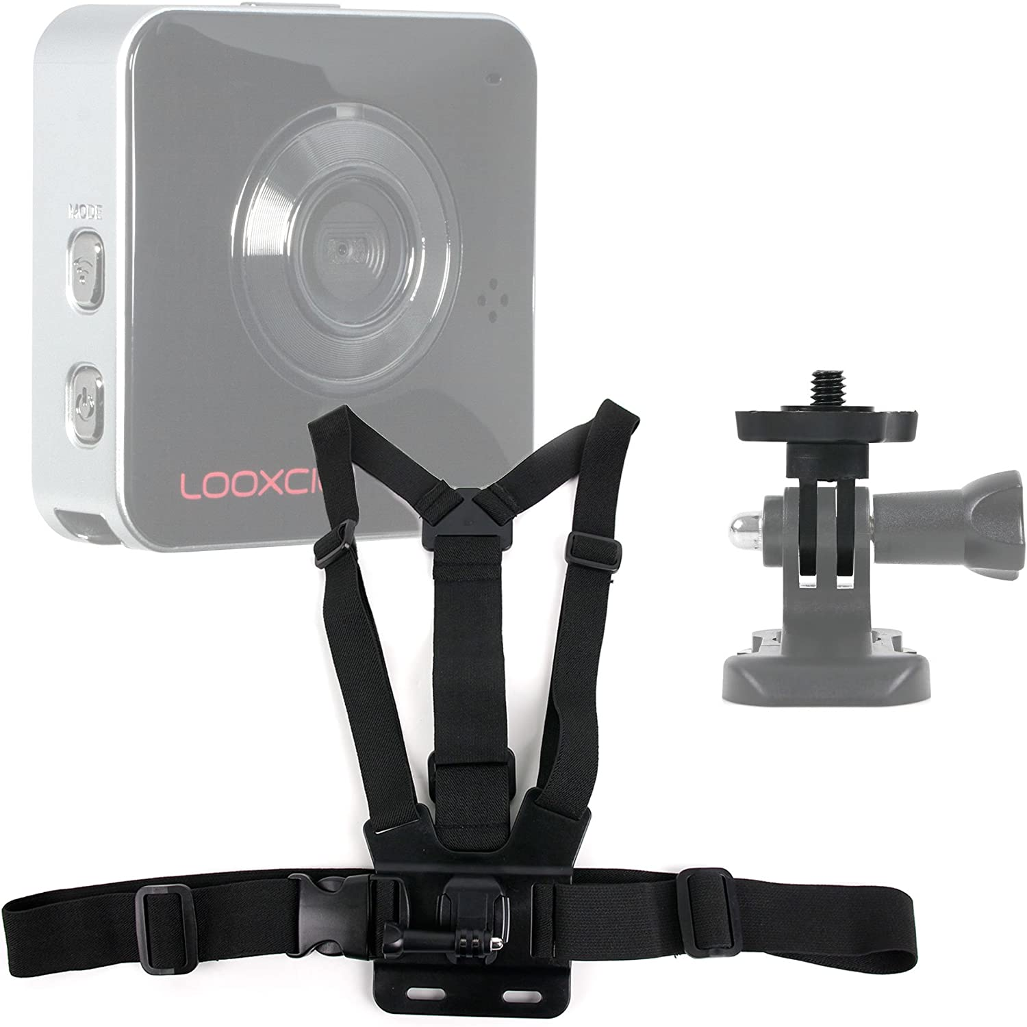DURAGADGET Adjustable Chest Harness Mount with Quick Release Buckle Compatible with Looxcie 3