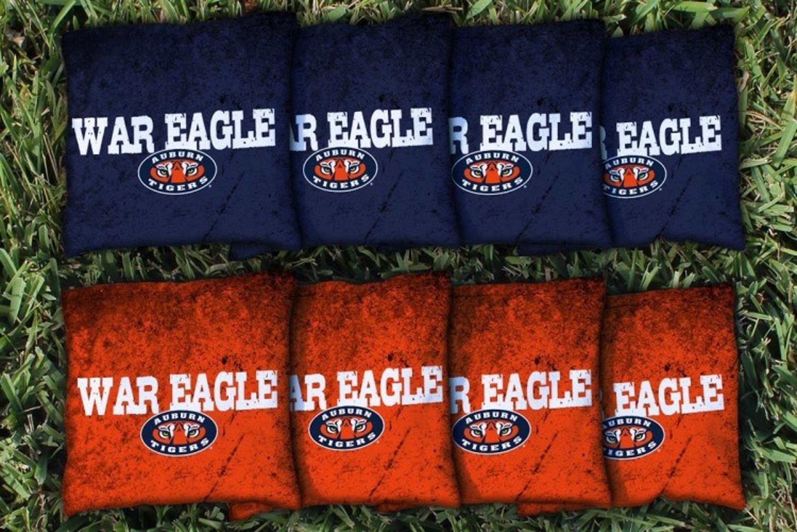 Victory Tailgate NCAA Regulation All Weather Cornhole Game Bag Set - 8 Bags Included - Auburn University Tigers War Eagle by Victory Tailgate