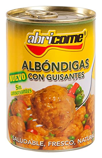 Abricome - Albóndigas con guisantes - Saludable, fresco, natural - 420 g - [