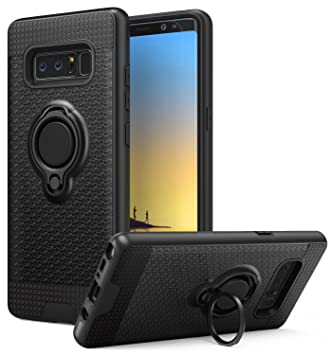 buy online c6c98 ce615 Samsung Galaxy Note 8 Case, MoKo Ring Clip Holder Case TPU Bumper  Shock-absorbing Anti-scratch Hard Back Cover for Samsung Galaxy Note 8 -  Black