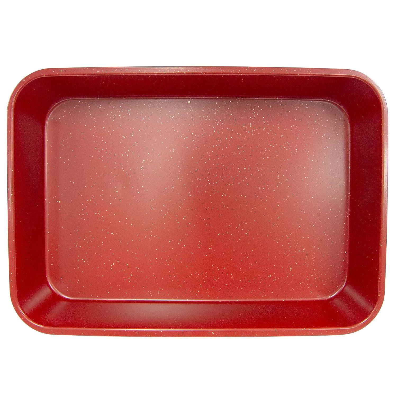 Silver Granite casaWare Grande Lasagna//Roaster Pan 18 x 12 x 3-Inch Ceramic Coated NonStick Extra Large