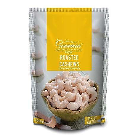 Gourmia Roasted Cashews, Lightly Salted, 100g