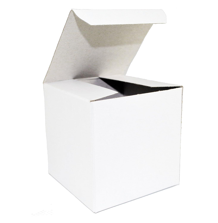 Amazon.com: White Wedding Favor Candy Gift Boxes 4x4x4\