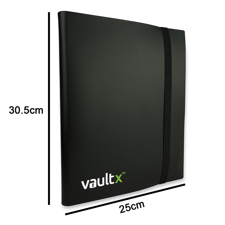 Vault X Heftmappe 360 F/ächer mit Seiten/öffnung f/ür Spielkarten zum sammeln und tauschen 9 F/ächer Sammelkarten Trading Cards Mappe