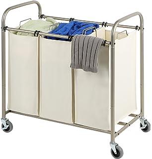 tidy living deluxe triple laundry sorter heavy duty bags large