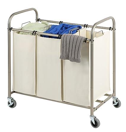 Large Laundry Sorter Beauteous Amazon Tidy Living Deluxe Triple Laundry Sorter Heavy Duty Bags
