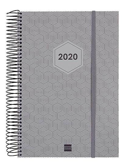 Finocam - Agenda 2020 1 día página Espiral Futura Gris Claro catalán