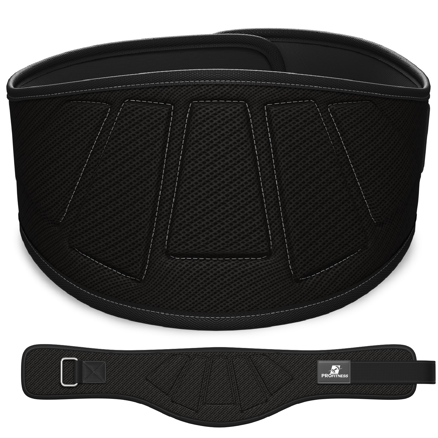 ProFitness Weightlifting Belt 6-Inch-Wide Proper Weight Lifting Form Unisex Back Support for Cross Training Exercises, Powerlifting Workouts