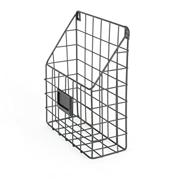 Amazon.com : Wall File Holder Metal Mesh Wire Shelf Hanging Folder ...