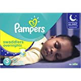 Pampers Swaddlers Overnights Diapers Size 3, Super Pack, 72 Count