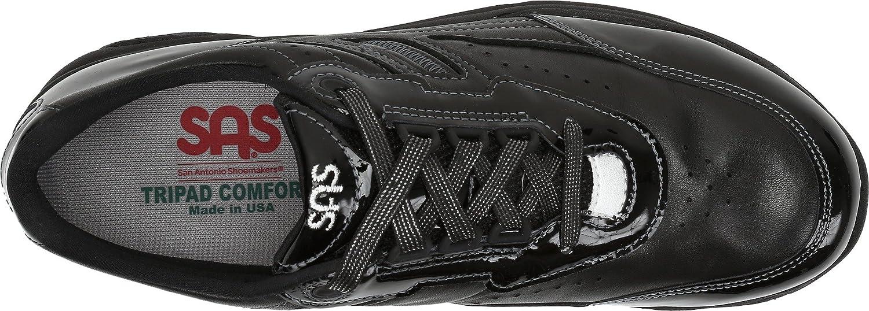 SAS Women's comfort Tour lace up Active comfort Women's shoe B01M7STCQ5 7.5 W - Wide (C) US|Black Patent 73cdd2