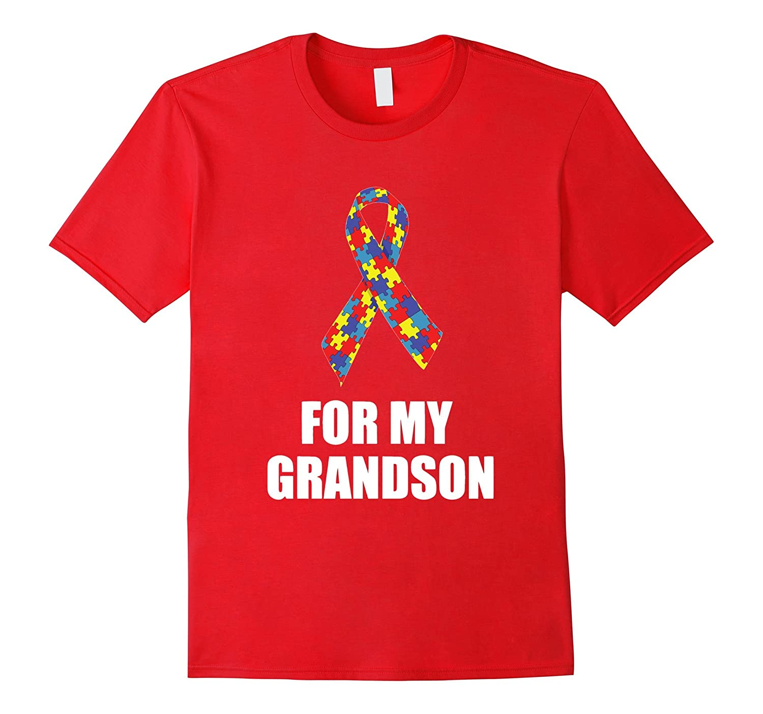 Autism FOR MY GRANDSON Tshirt for Autism Awareness Month T S-TD
