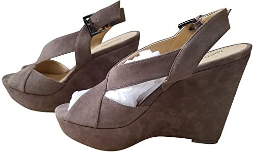 800f1419e51 Michael Michael Kors Womens Becky Wedge Open Toe Casual Ankle Strap  Sandals  Amazon.co.uk  Shoes   Bags