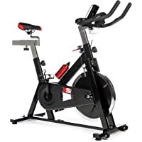 XS Sports 2019 MODEL Aerobic Indoor Training Exercise Bike-15kg Chain driven Flywheel, Padded Armrests, Computer, Pulse Sensors, Warranty-Fitness Cardio Home Cycling Racing