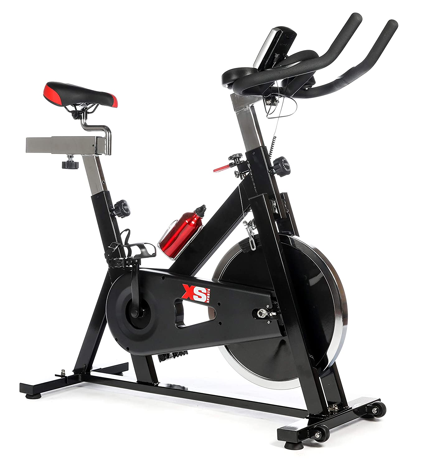 c462b1a31c4 XS Sports XS012 Exercise Bike - Aerobic Equipment - Upright Indoor Cycling  Trainer Machine with 15kg Spinning Flywheel for Cardio Workout with full ...