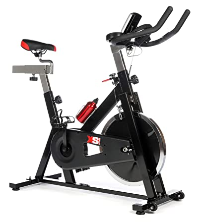 ade9e8b02955 XS Sports Aerobic Indoor Training Exercise Bike-Fitness Cardio Home Cycling  Racing-15kg Flywheel with PC + Pulse Sensors  Amazon.co.uk  Sports    Outdoors