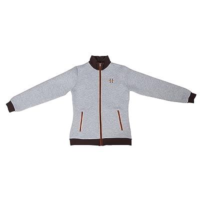 Huntley Women's Lightweight Front Zipper Grey Bomber Jacket: Clothing