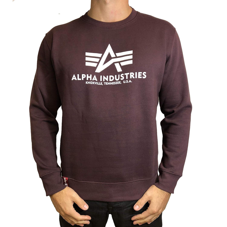 Alpha Industries Pullover Basic rot Olive schwarz weiß grau blau gelb