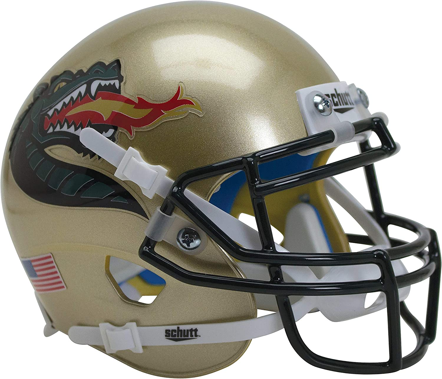 White Dragon Alt Schutt NCAA UAB Blazers Mini Authentic XP Football Helmet Mini 3