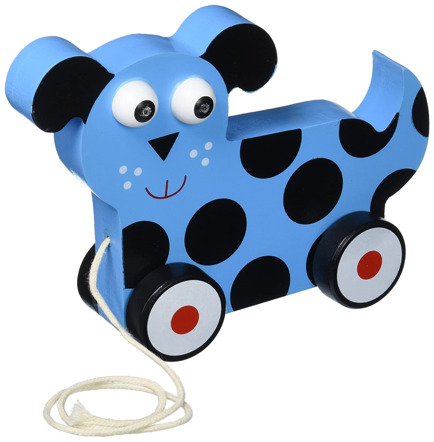 Imagination Generation Wooden Wonders Push n Pull Dalmatian Puppy Toy