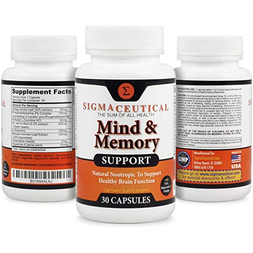 Amazon Com 3 Pack Of Memory Support Supplement And Brain Booster