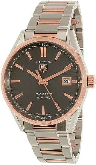 TAG Heuer Carrera de hombre WAR215E. BD0784 plata acero inoxidable Swiss reloj automático: Tag Heuer: Amazon.es: Relojes