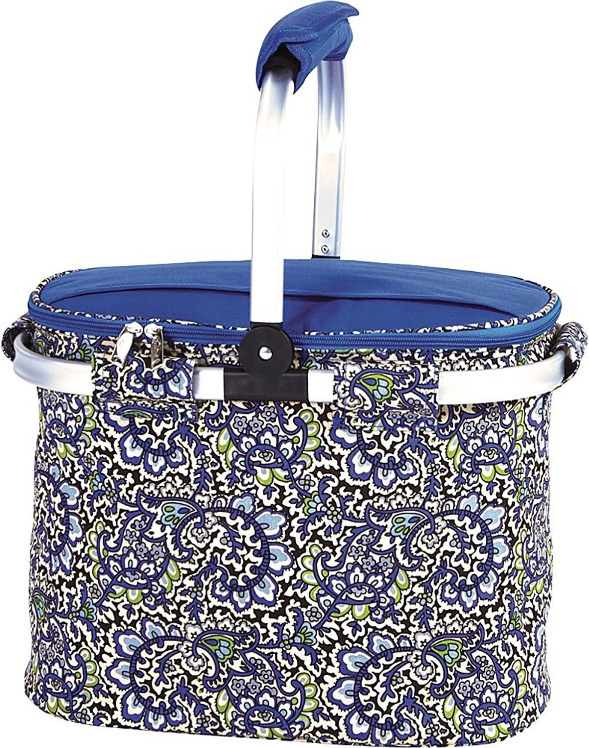 Amazon Com Picnic Plus Shelby Collapsible Thermal Foil Insulated Market Cooler Tote Kitchen Dining