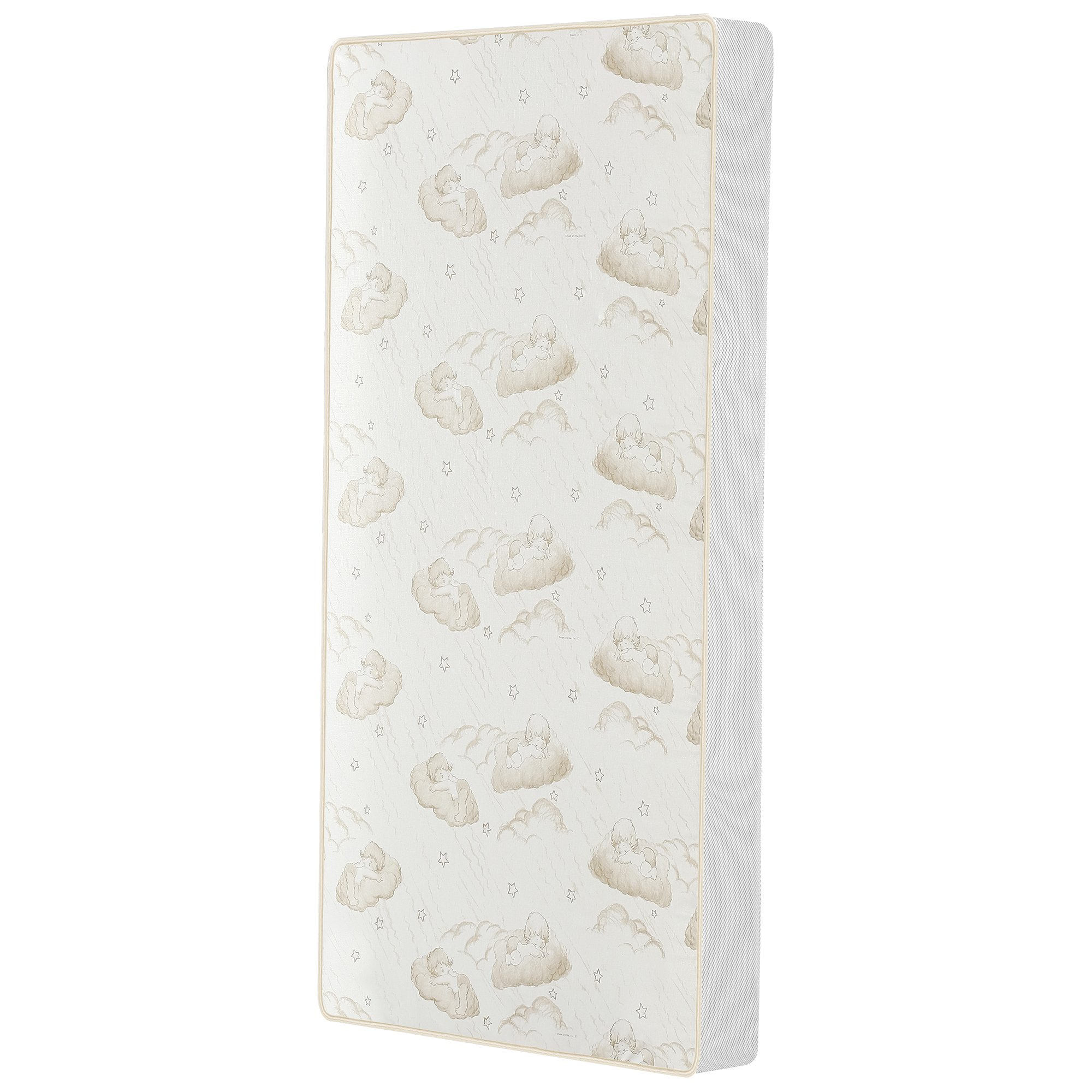 Dream On Me 2-In-1 Breathable Twilight 5'' Spring Coil Crib and Toddler Bed Mattress with Reversible Design, White/Brown