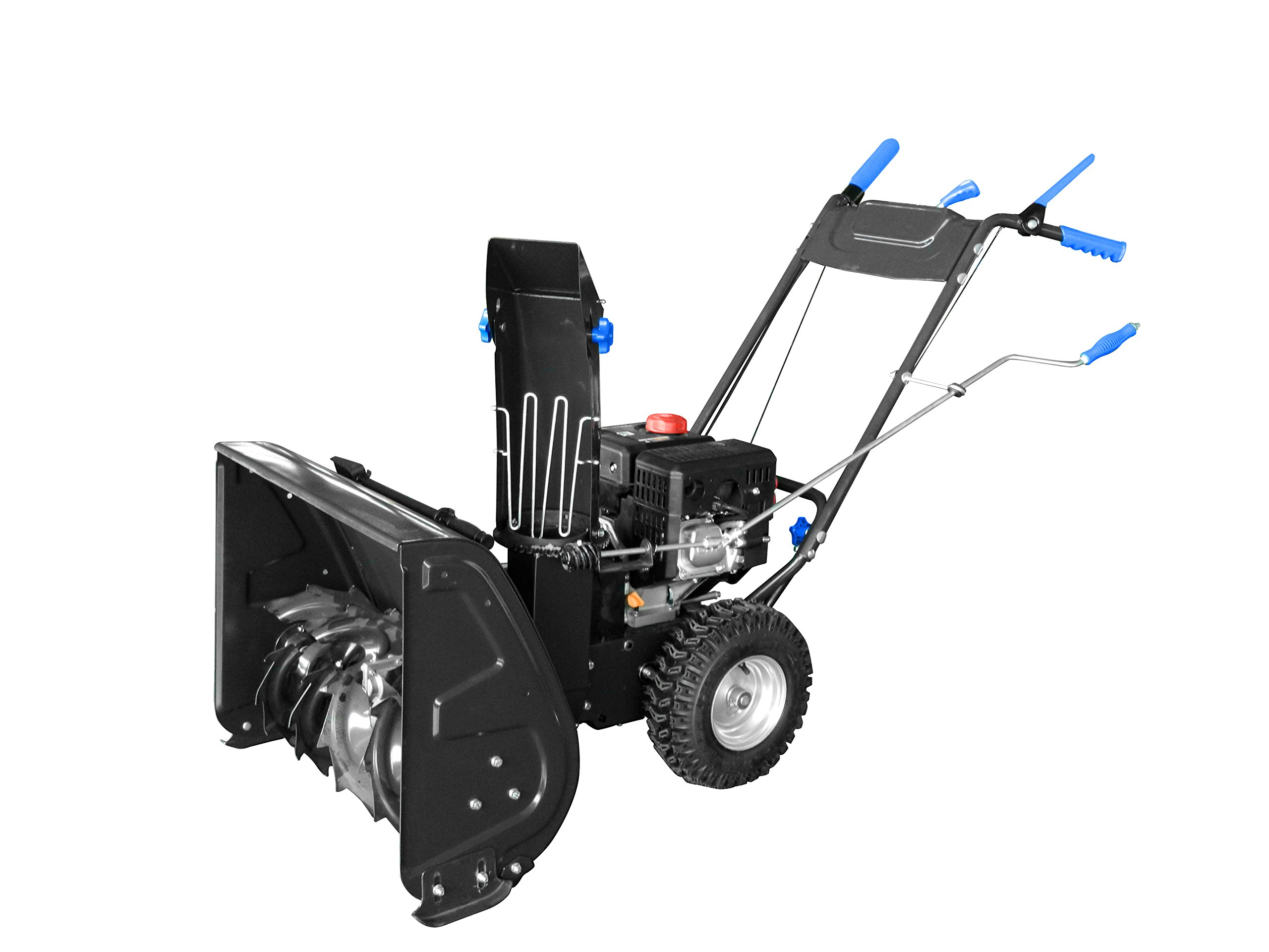 AAVIX AGT1426 208cc 2-Stage Electric Start Self-Propelled Snow Blower, 26'', Black