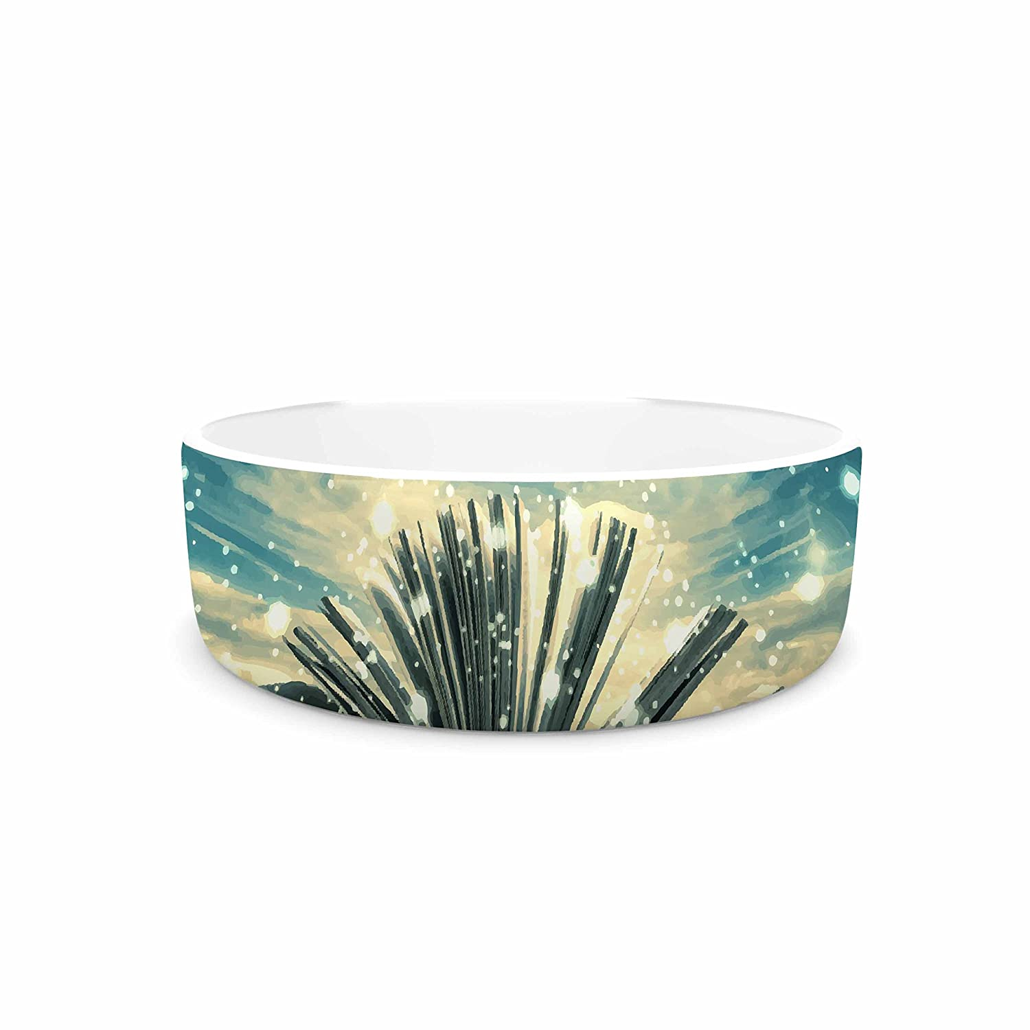 4.75\ KESS InHouse 888 Design The Knowledge Keeper  bluee Fantasy Pet Bowl, 4.75