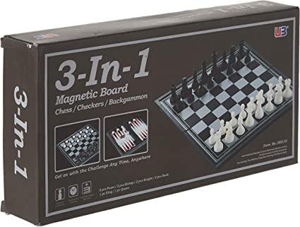 Travel Magnetic Chess Mini Set Complete Folding Board Game Portable Box Metal Ne