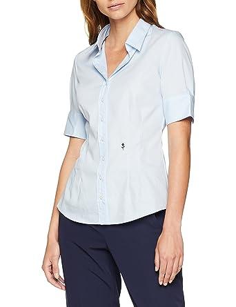 9c45b9b5d638e9 Seidensticker Damen Bluse – Bügelfreie, schmal taillierte Hemdbluse mit  Hemdblusen-Kragen und Kragen-Ausschnitt – Kurzarm – 100% Baumwolle:  Amazon.de: ...