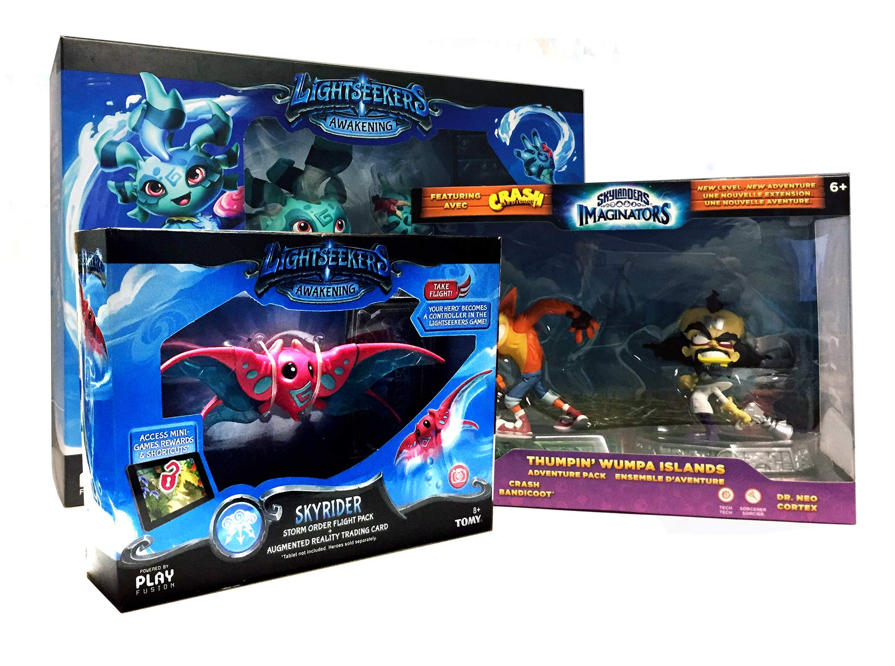 Awakening Mari Starter Pack Bundle with Skyrider and Thumpin Wumpa Islands Adventure Pack