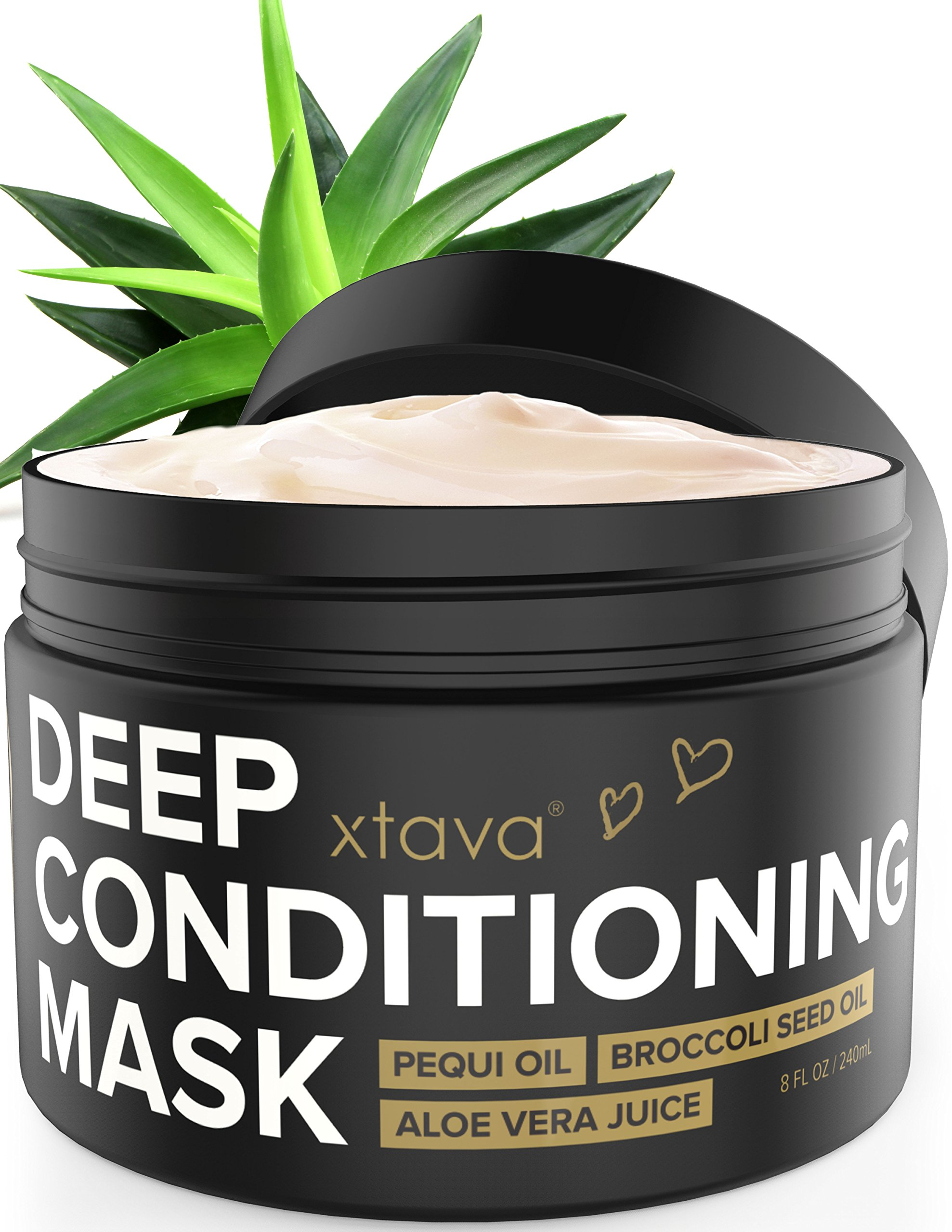 xtava Deep Conditioning Mask Hair Treatment for Dry Damaged Hair 8Fl.Oz - Nourishing Restorative Leave In Conditioner to Repair Split Ends and Damage - Hair Mask Hydrating Moisturizing Cream by xtava