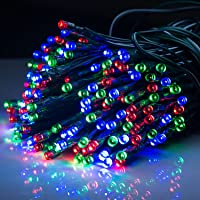 RGB String Lights Outdoor Indoor,500LED Multi-Color Rice Lights,Solar Energy Garland Colorful Fairy Lights 50M…