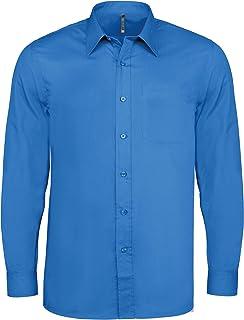 Orangemarine Camicia Uomo Popeline Blu Reale