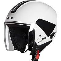 Steelbird SB-33 7Wings Gust Dashing Open Face Helmet (Large 600 MM, White with Plain Visor)