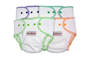 Image: Imse Vimse Organic Terry Contour Diapers | soft and ultra absorbent | Quick drying | less bulky than other terry cloth diapers on the market | perfect for both day and night time use | 100% Certified Organic Cotton