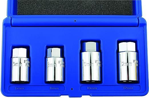 4pc  6mm 8mm 10mm 12mm Short Series LASER TOOLS 3734 Stud Extractor Set